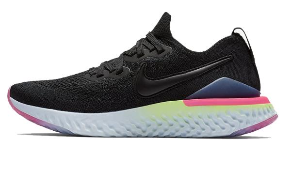 ナイキ Nike ウイメンズ エピック リアクト フライニット2 NEW レディースランニングシューズ BQ8927-003 (ブラック/サファイア/ライムブラスト/ブラック)
