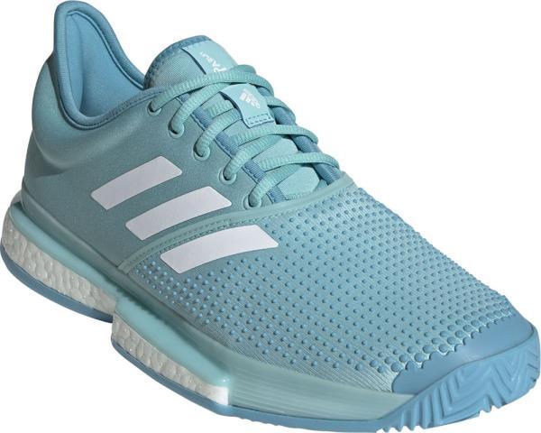 アディダス adidas ソールコートブーストM MC NEW テニスシューズ CG6339 (ブルースピリット S11×ランニングホワイト×ヴェイパーブルーF16)