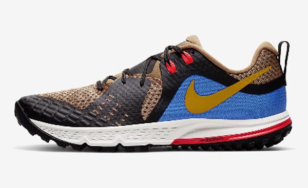 ナイキ Nike エア ズーム ワイルドホース 5 NEW ランニングシューズ AQ2222-200(ビーチツリー/オフノワール/パシフィックブルー/ユニバーシティゴールド)