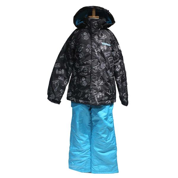レセーダ RESEEDA res61005-009p616 ジュニアガールズスーツ (ブラック/ターコイズ)スキーウェア ボードウェア
