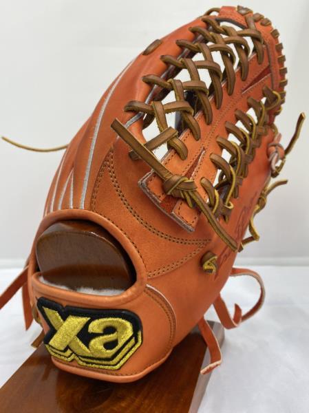 【職人加工済グラブ】ザナックス トラストシリーズ 限定生産商品 外野手用 17SS 野球 軟式グラブ BRG-72216-DR2027 (DRオレンジ×タン)