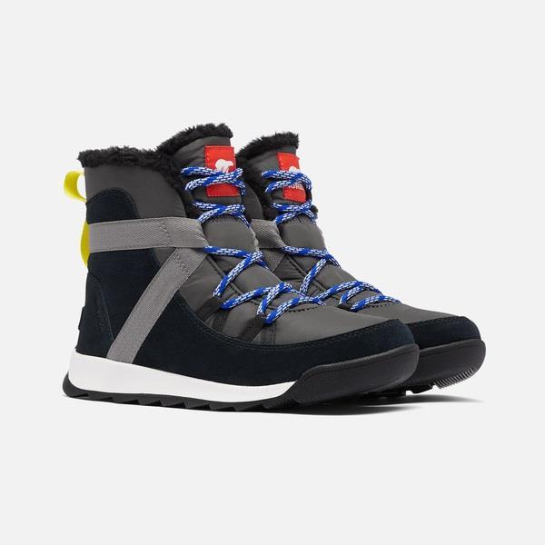 防水ブーツ ソレル SOREL ウィットニーIIフルーリー レディース Coal Black ファッション通販 NL3819 信憑 レディースウインターブーツ
