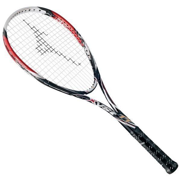 ミズノ ジスト TT 15FW ソフトテニスラケット 63JTN622-62 (ブラック×レッド)