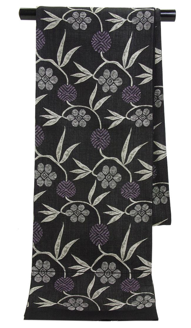 特選 正絹 西陣手織り袋帯「笹蔓」勝山織物 謹製【送料無料】