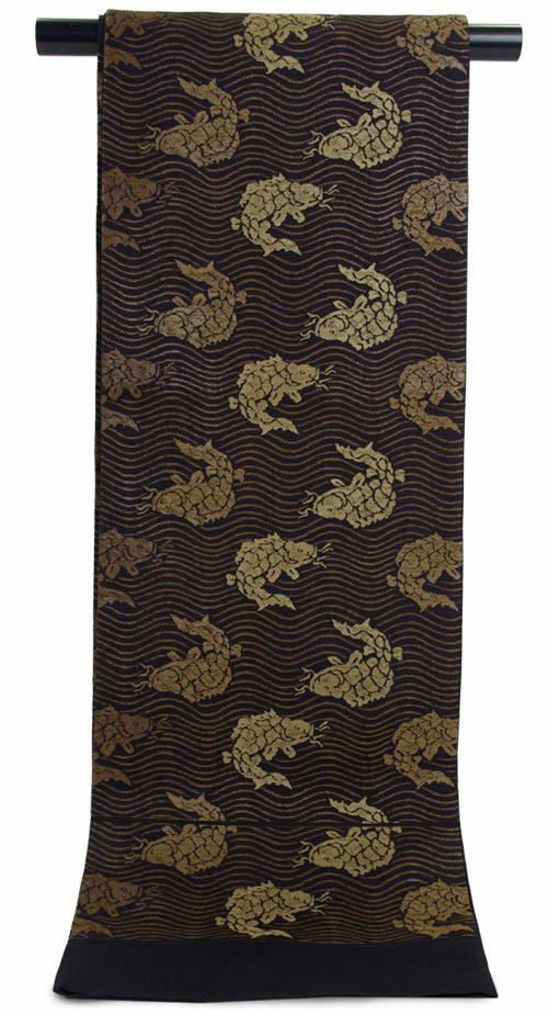 特選 正絹 西陣 袋帯「荒磯」工芸帯地勝山織物 謹製【送料無料】