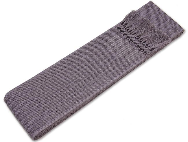 正絹博多 羅織 角帯薄鼠色(青紫味の灰色)西村織物謹製 角帯【送料無料!】