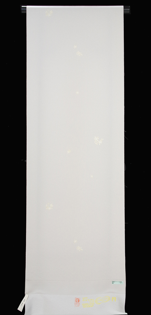 正絹 小紋着尺 華菱文様地淡いベージュ地 丸橘文様柄 飛び配置【送料無料!】きもの近江屋