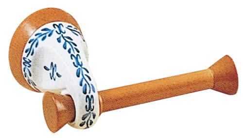 スペイン製トイレットペーパーホルダー 【陶器製】 【サニタリーグッズ】【ブルーポンペイヤシリーズ】
