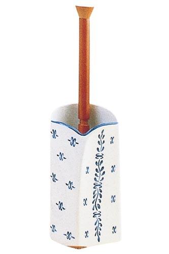 スペイン製トイレブラシ 401C-YA 【陶器】 【サニタリーグッズ/ブルーポンペイヤシリーズ】