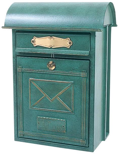 郵便ポスト LB-03-64090-026 レターボックス(グリーン) 【クラシック/メイルボックス/ドイツ製/直輸入品】