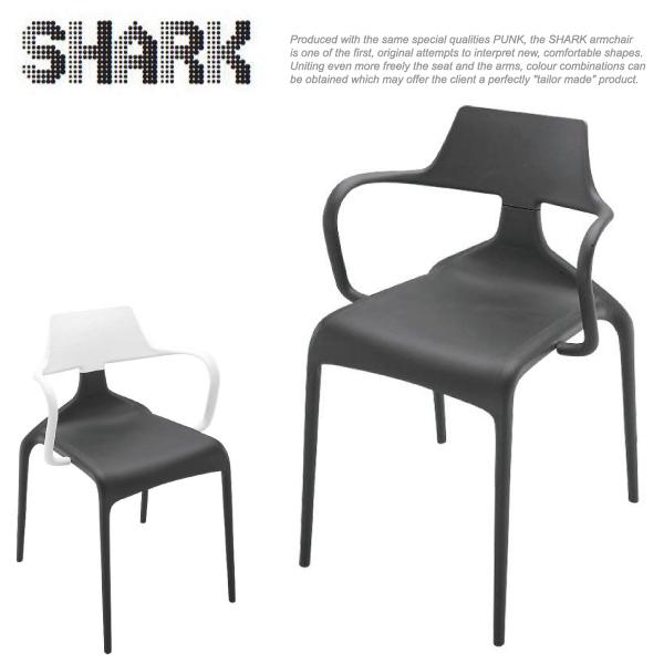 【イタリア製】デザイナーズチェア SHARK(シャーク) 【スタッキングチェア/直輸入】 <<セール品の為、返品・交換不可>>