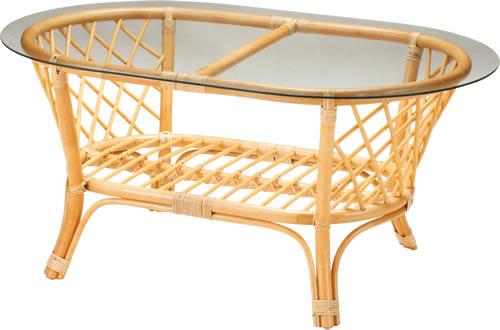 高級ラタン ガラステーブル 1372/Table【送料無料】強化ガラス 厚み10mm 輸入家具 ラタンテーブル テーブル リビング ダイニング 客間 応接室 <<セール品の為、返品・交換不可>>