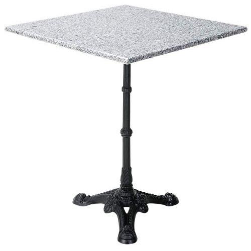 御影石テーブル グレー 正方形 600角 60cm 天板と脚部セット|御影石 花崗岩 天板 綺麗 おしゃれ アンティーク 高級感 北欧 四角 スクエア