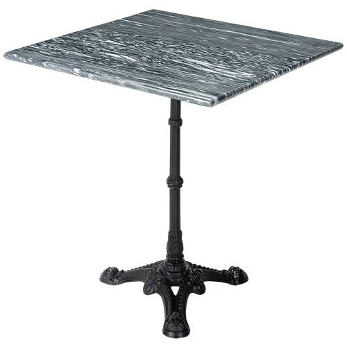 送料無料 輸入雑貨 大理石テーブル marble 四角 スクエア 正方形 上品 灰色 グレーウェイブ 結婚祝い 600角 おしゃれ 大理石 天板と脚部セット 綺麗 アンティーク 天板 60cm 高級感 大幅にプライスダウン 北欧 マーブル