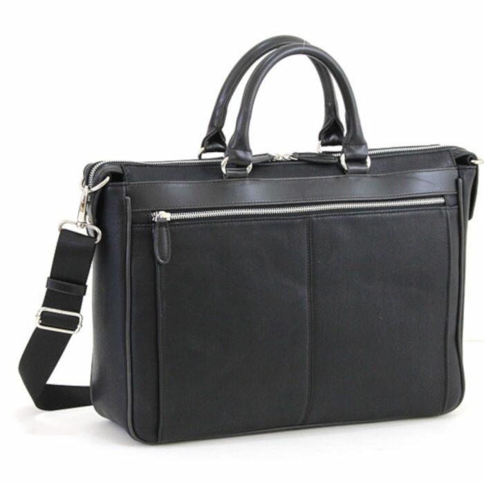 送料無料 軽量合皮 ビジネスブリーフ バッグ B4サイズ