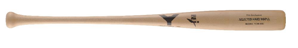 【野球 ヤナセ 硬式木製バット BFJ】ヤナセ メイプル1本木 硬式用木製バット(YCM-006) ■84.5cm(900g平均) ■ナチュラル ■セミトップバランス ■細身でやや丸みのグリップエンド、短めに持つにも最適モデル ■BFJマーク付き ■社会人野球 ■大学野球