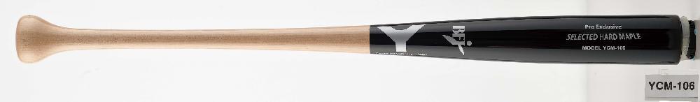 【野球 ヤナセ 硬式木製バット BFJ】ヤナセ 硬式用木製バット(YCM-106) ■84.5cm(900g平均) ■北米産メイプル ■ブラック×ナチュラル ■ミドルバランス ■BFJマーク付き ■社会人野球 ■大学野球