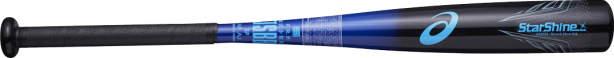 送料無料【野球 アシックス 少年軟式用 バット】アシックス ジュニア軟式用FRP製バット スターシャイン(BB8504) ■ライトバランス ■ブラック×ブルー ■78cm(490g平均) ■グリップ径を太くしたことにより、高い操作性と振りやすさを追求したライトバランスモデル