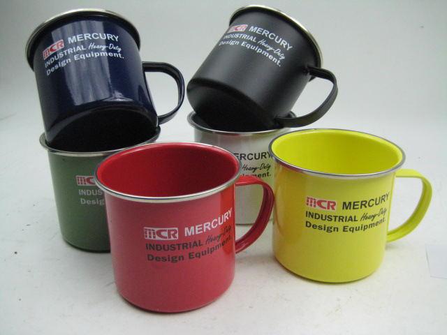 エナメルコーティングされた大き目なマグカップ NEW Mercuryマーキュリー エナメル 誕生日 お祝い 13X10XH9センチ 500ML 2021MA 授与 マグ