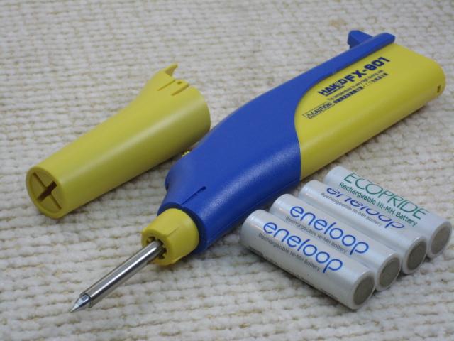 流行のアイテム 単三電池で使え 場所を選ばないコードレス半田コテ 記念日 白光電池式ハンダこて 電池別 50S FX-901