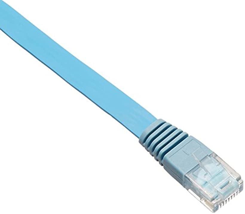 LANケーブル 50m スーパーフラット CAT5e準拠 ブルー[LD-CTFS/BU50](50m)