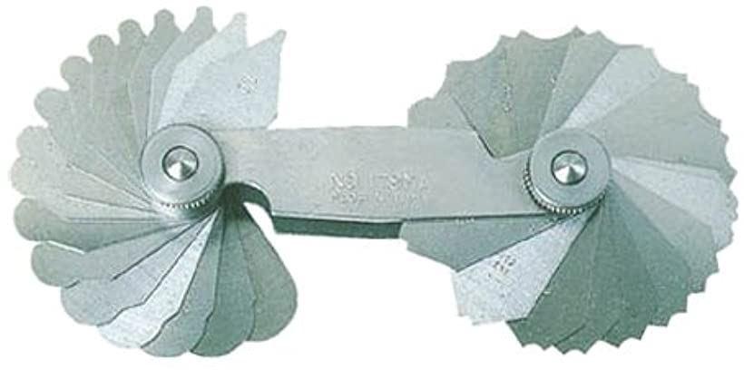 ラジアスゲ-ジ測定サイズ16.0~23.0枚数16 178MC(測定範囲16.0-23.0mm)