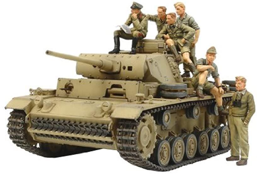 1/35 ミリタリーコレクションシリーズ No.05 ドイツ陸軍 III号戦車 L型 ロンメル 野戦指揮セット プラモデル 32405 TM32405