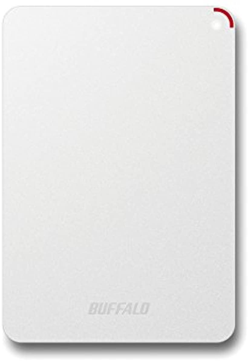 BUFFALO 耐衝撃対応 2.5インチ ポータブル 外付けHDD HD-PNF1.0U3-BWE(ホワイト, 1TB)