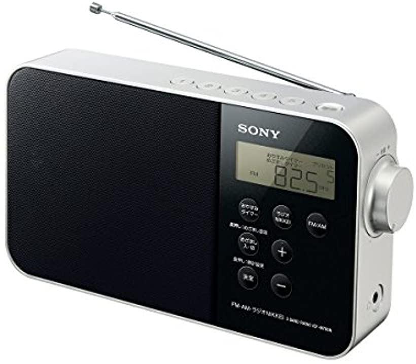PLLシンセサイザーポータブルラジオ ICF-M780N : FM/AM/ワイドFM/ラジオNIKKEI対応 乾電池対応 ブラック B