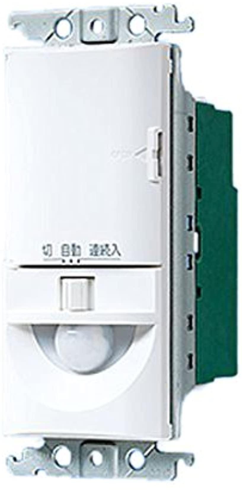 トイレ壁取付熱線センサ付自動スイッチ 換気扇連動用 ホワイト WTK1614W(ホワイト)