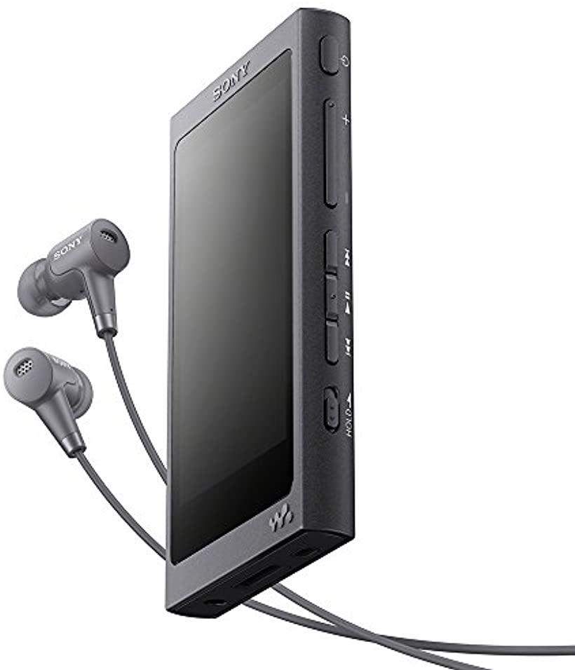 ウォークマン Aシリーズ NW-A45HN : Bluetooth/microSD/ハイレゾ対応 最大39時間連続再生 ノイズキャンセリングイヤホン付属 2017年モデル[NW-A45HN B](グレイッシュブラック, 16GB)