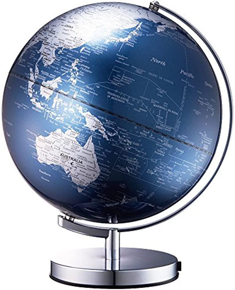 地球儀 ライティングアース 光る地球型オブジェ 球径30cm[LE-30-BL](ブルー, 30cm)