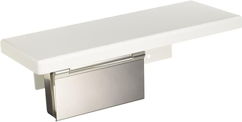紙巻器 棚付き 木質 ステンレス製 マット ホワイト(ホワイト)