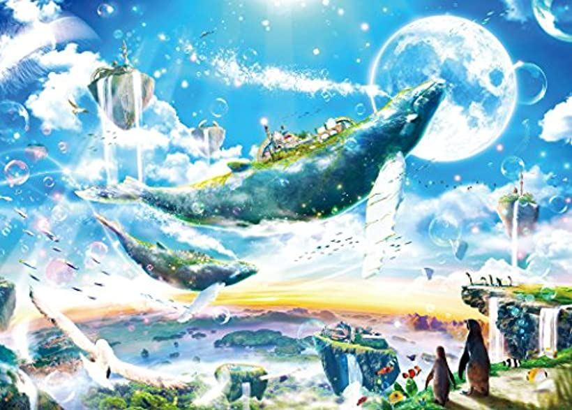 500ピース ジグソーパズル めざせ. パズルの達人 楠田諭史 空の王国~水の都市をめざして[06-058](38x53cm)