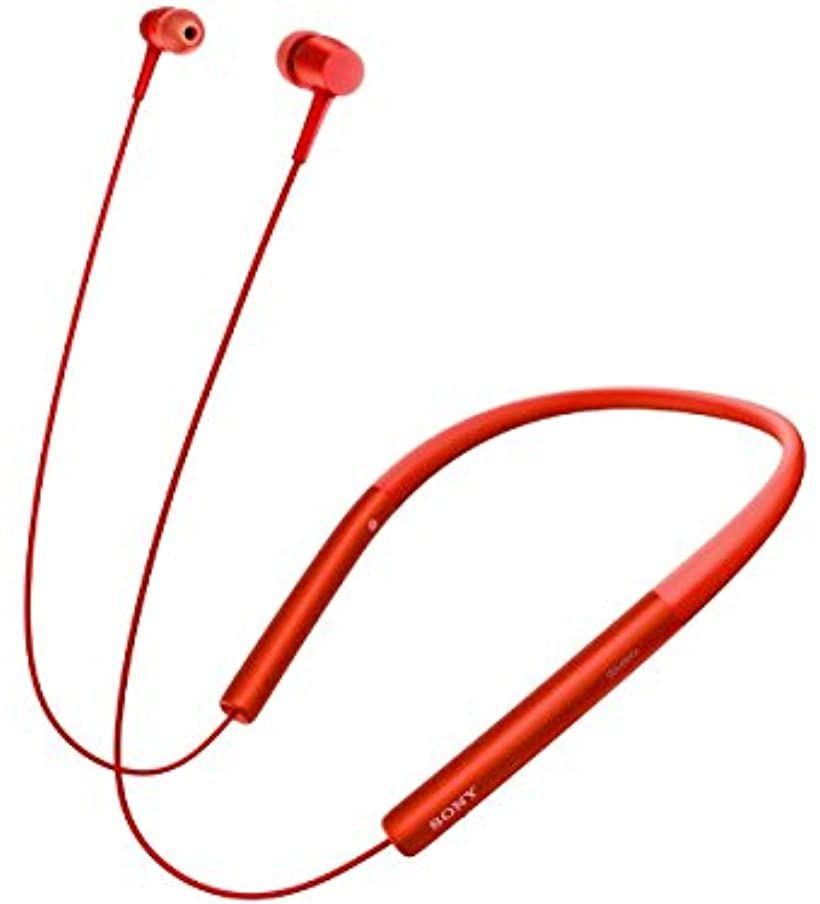 ワイヤレスイヤホン h.ear in Wireless MDR-EX750BT : ハイレゾ/Bluetooth対応 リモコン・マイク付き[MDR-EX750BTR](シナバーレッド)