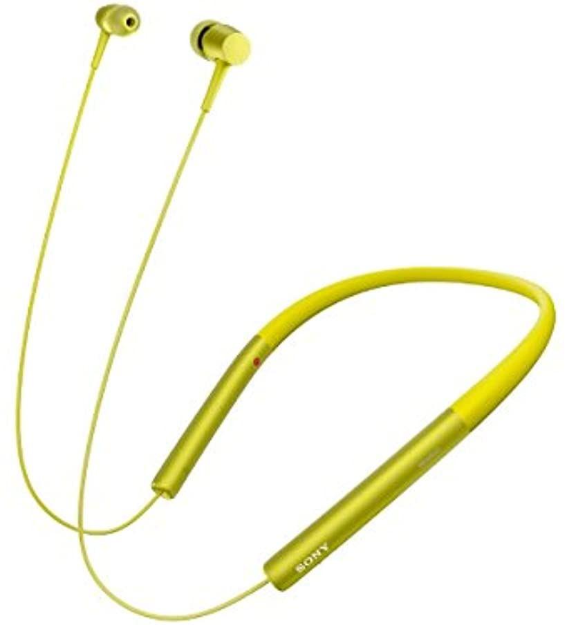 ワイヤレスイヤホン h.ear in Wireless MDR-EX750BT : ハイレゾ/Bluetooth対応 リモコン・マイク付き Y[MDR-EX750BTY](ライムイエロー)