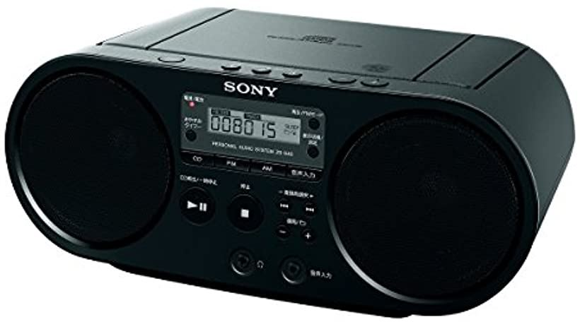 CDラジオ ZS-S40 : FM/AM/ワイドFM対応 B[ZS-S40 B](ブラック)
