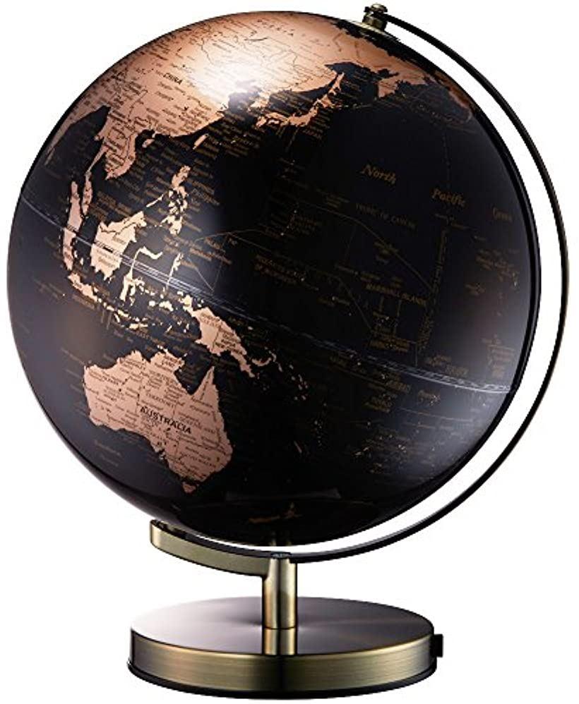 地球儀 ライティングアース 光る地球型オブジェ 球径30cm [ゴールド] [LE-30-GL] [ナカバヤシ]