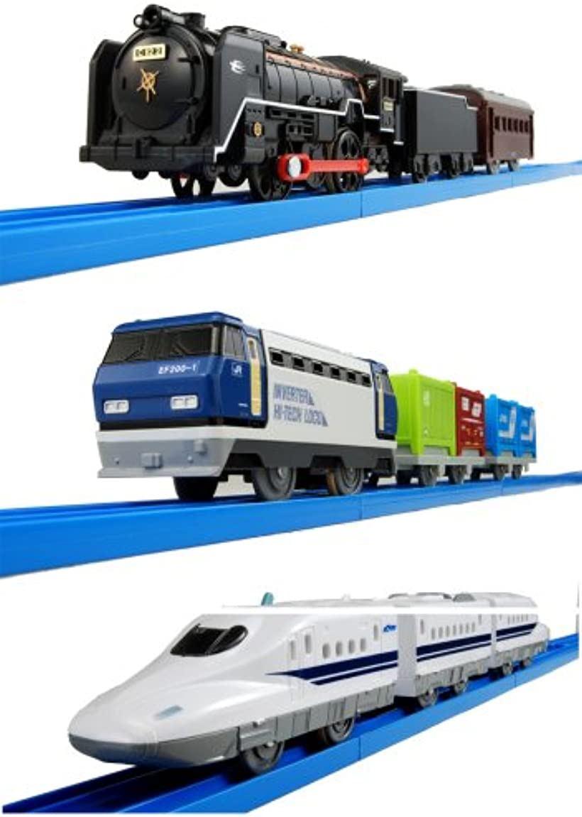 プラレール スーパー列車大集合セット-新幹線・SL・貨物-