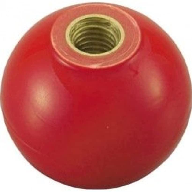樹脂製握り玉 金具付赤 40XM10mm TPC4010R TPC40-10R
