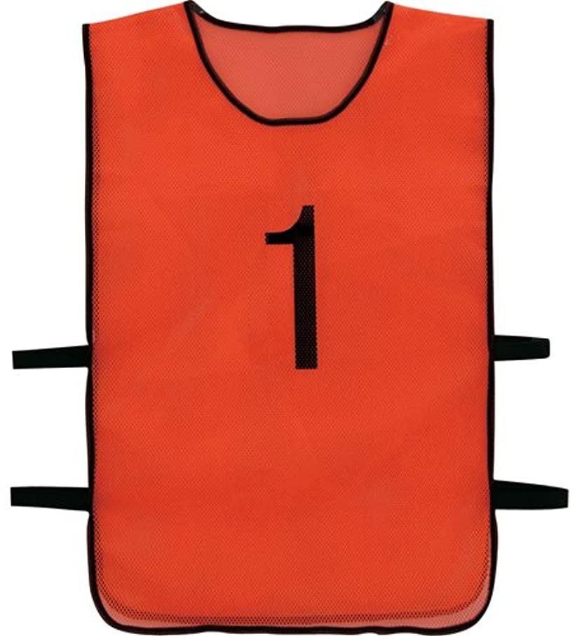 トラスコ 番号安全ベスト 1~10各1枚セット オレンジ TBB10SET(オレンジ)