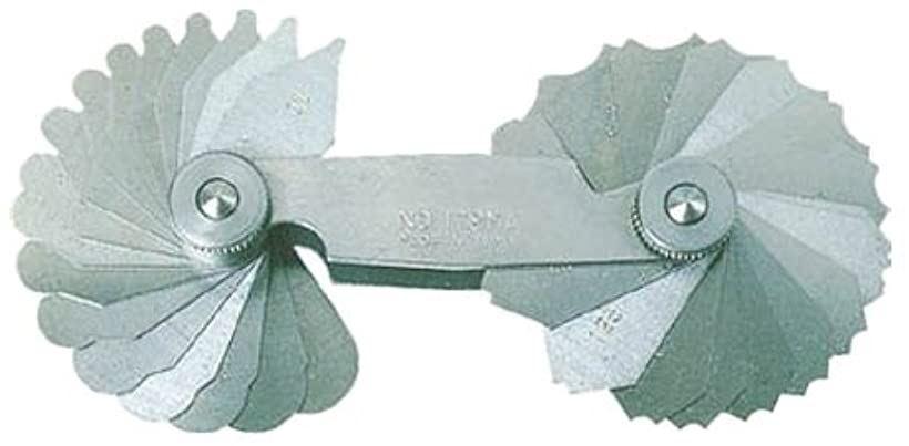 ラジアスゲ-ジ測定サイズ0.1~1.0枚数20 178MAA(測定範囲0.1-1.0mm)