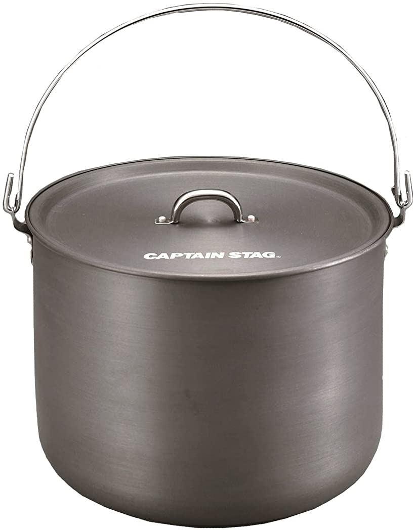 バーベキュー BBQ用 鍋 アルミ製 つる付き 寸胴鍋[UH-4104](マルチ, 24cm)