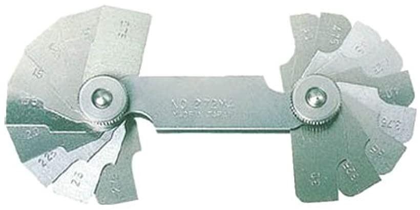 ラジアスゲ-ジ測定サイズ13.00~22.0枚数10 272MC(測定範囲13.00-22.0mm)