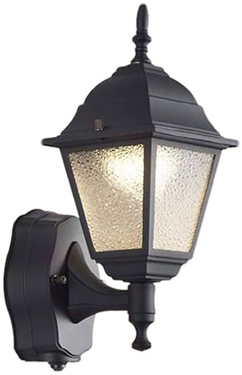 LEDアウトドア・ブラケットシーリングライト 省エネ 人感センサー付 電球色 BU11707SB(ブラック)