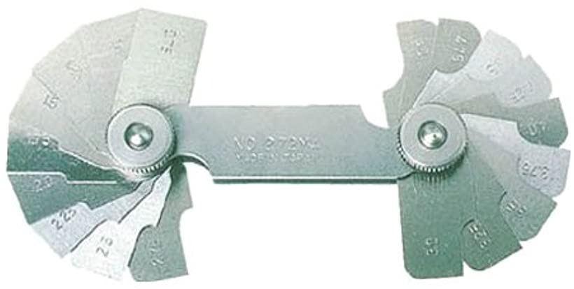 ラジアスゲ-ジ測定サイズ0.10~1.0枚数10 272MAA(測定範囲0.10-1.0mm)