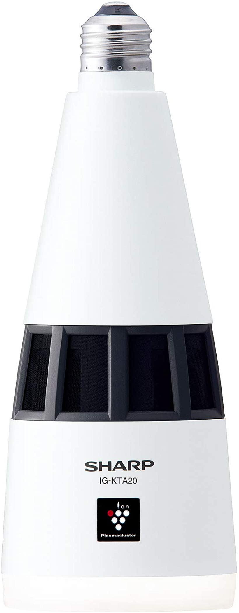 プラズマクラスター イオン発生機 トイレ用 天井 LED 照明 E26口金 IG-KTA20-W(ホワイト, 1 畳)