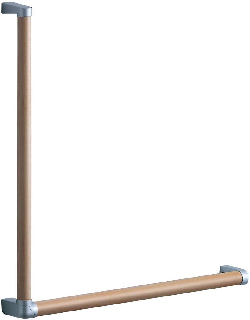 天然木手すり 61シリーズ Lタイプ 61.7×61.7cm ミルベージュ(ミルベージュ)