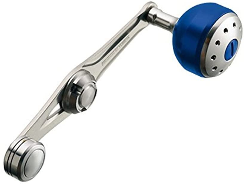 リール 夢屋 パワーバランスハンドル 65mm AL ブルー 30528 パーツ[030528](ALブルー, M)