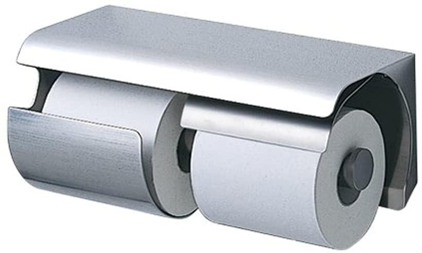 紙巻器 棚付き ステンレス スペアホルダー付き 左 ステンレス製 マット[YH150LS]